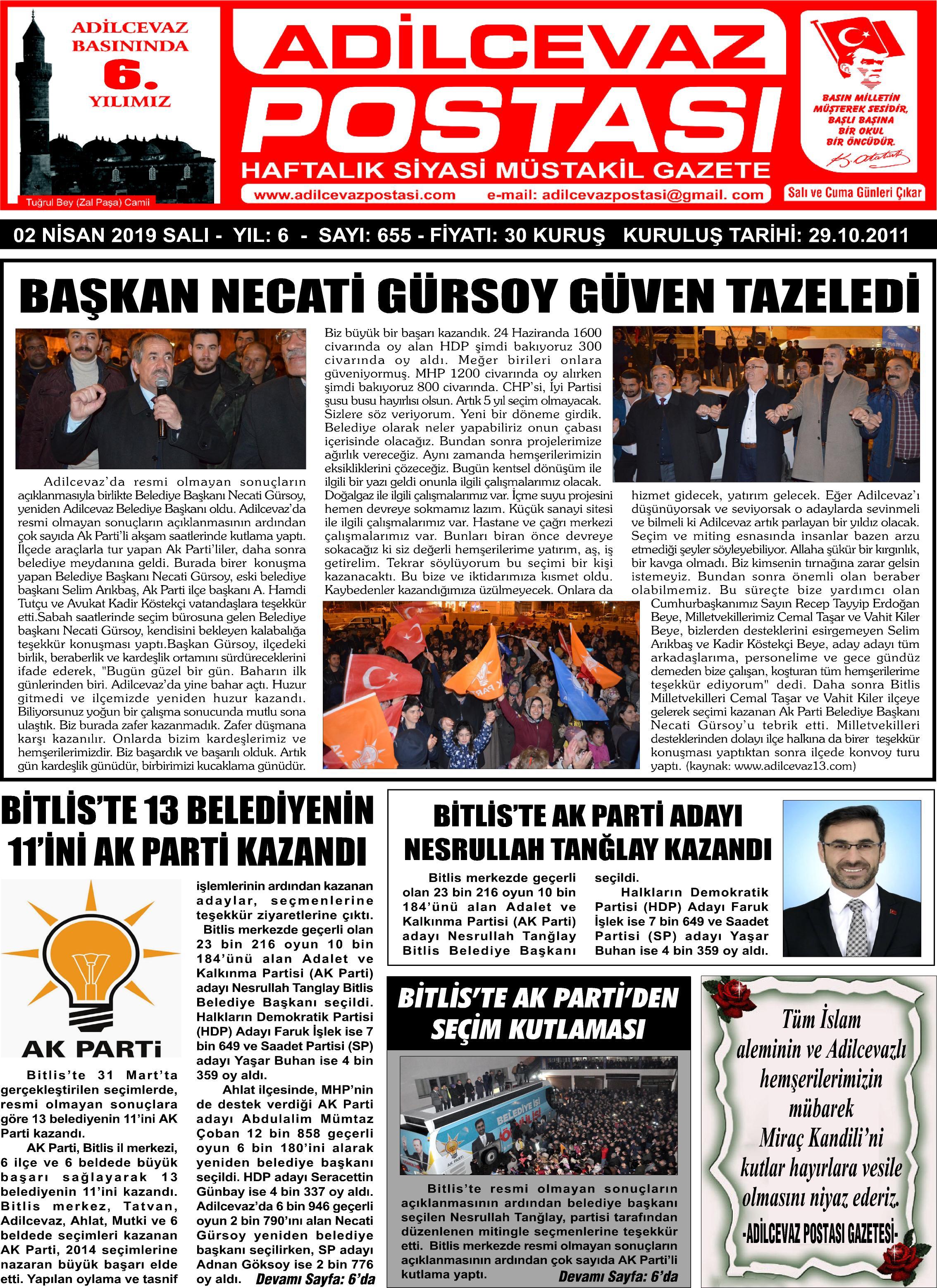02.04.2019 tarihli gazetemiz