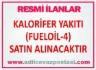 KALORİFER YAKITI (FUELOİL-4) SATIN ALINACAKTIR